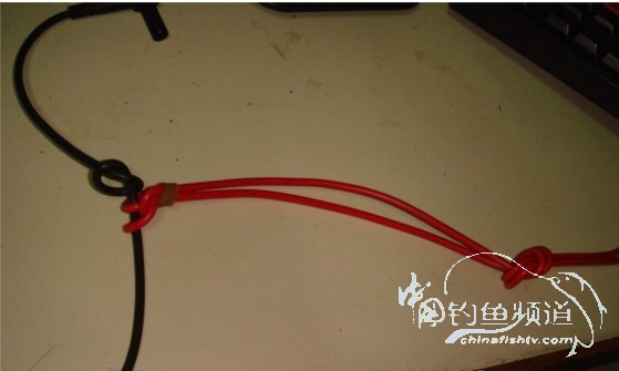 主线子线八字环的连接方法 - 教你一招 - 中国钓鱼