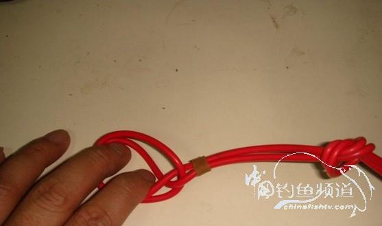 主线子线八字环的连接方法
