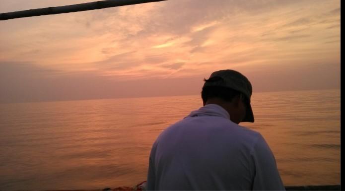 防城港 狮子/收工返航~~~~收杆时间17:50预计到岸时间20:20分...